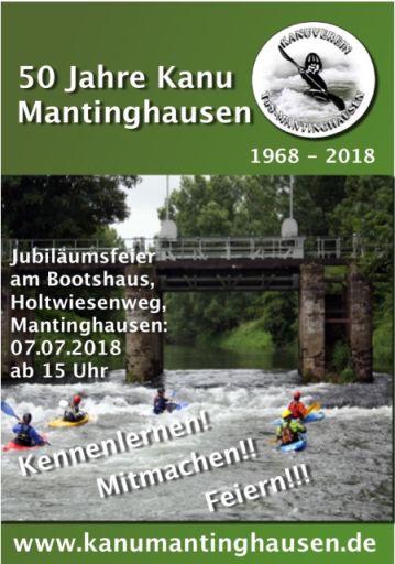 Großes Fest steht an – 50 Jahre KanuMantinghausen