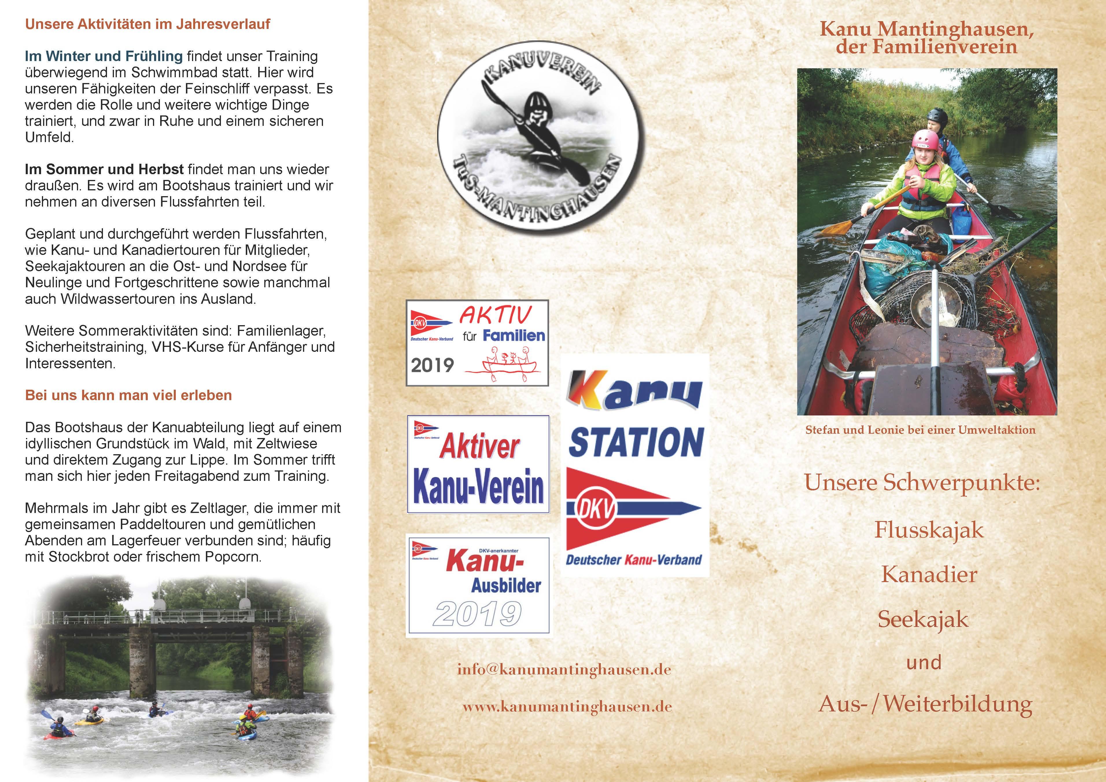 Neuer Vereins-Flyer 2019